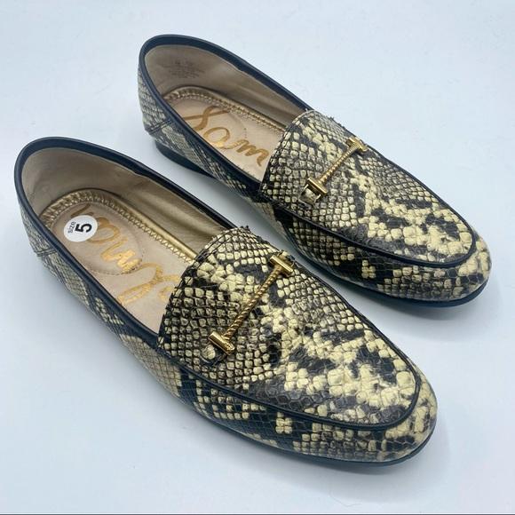 Sam Edelman Snakeskin Loraine Leather Loafers